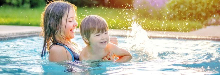 camping piscine chauffee